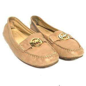 Tan Michael Kors loafers